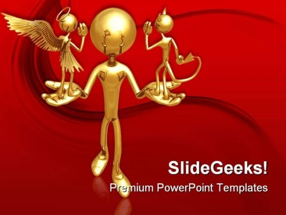 Good Or Evil Metaphor PowerPoint Themes And PowerPoint Slides 0411