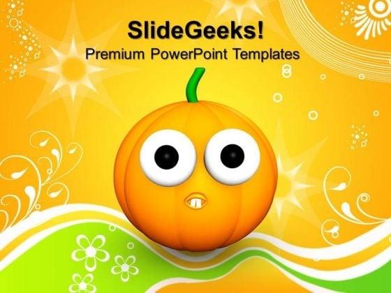 goofy scared halloween pumpkin festival powerpoint templates and