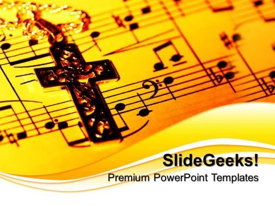 Gospel Cross Church PowerPoint Templates And PowerPoint Themes 0712