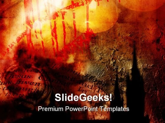 Gothic Abstract Religion PowerPoint Backgrounds And Templates 1210
