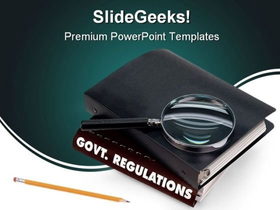 Government Regulations Education PowerPoint Backgrounds And Templates 1210