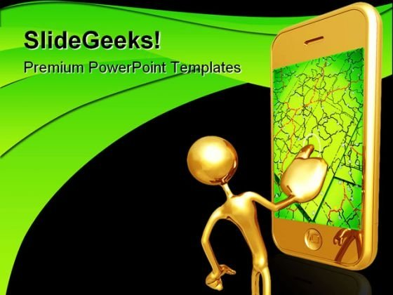 Gps Networking Technology PowerPoint Templates And PowerPoint Backgrounds 0711