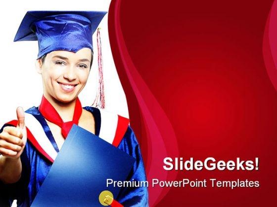 Graduate Student Education PowerPoint Template 1010
