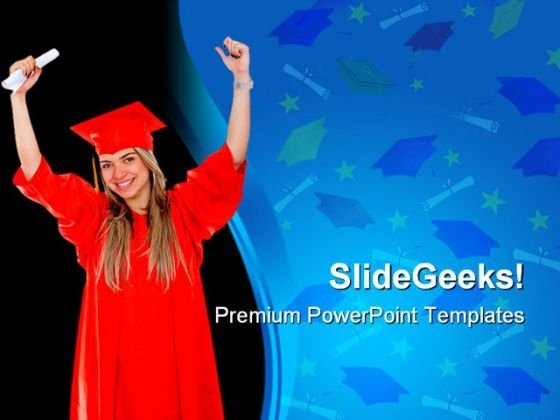 Graduate Student Law PowerPoint Backgrounds And Templates 1210