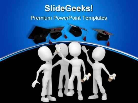 Graduate Success PowerPoint Template 1110