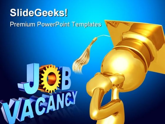 Graduate Thinking Of Job Future PowerPoint Themes And PowerPoint Slides 0311