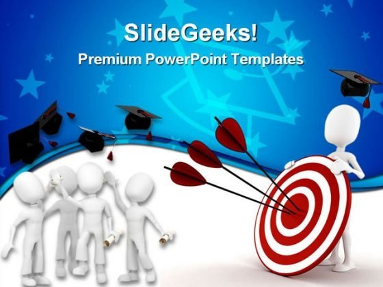 Graduation Target Education PowerPoint Themes And PowerPoint Slides 0311