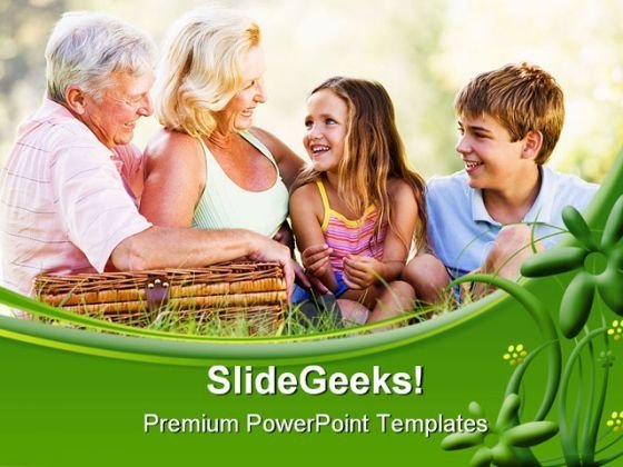 Grandparents With Children Holidays PowerPoint Templates And PowerPoint Backgrounds 0411