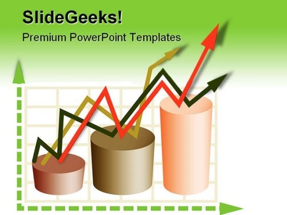 Graph And Arrows Business PowerPoint Templates And PowerPoint Backgrounds 0411