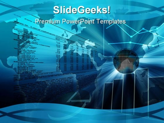 Graph Chart Business PowerPoint Template 0810
