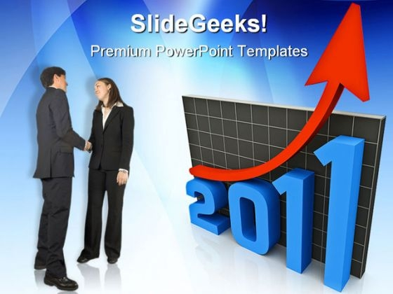 Graph In 2011 Business PowerPoint Backgrounds And Templates 1210