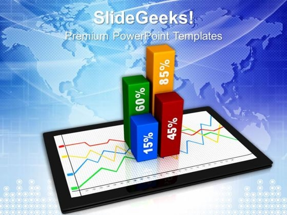 Graph On Ipad Business Growth PowerPoint Templates And PowerPoint Themes 1012