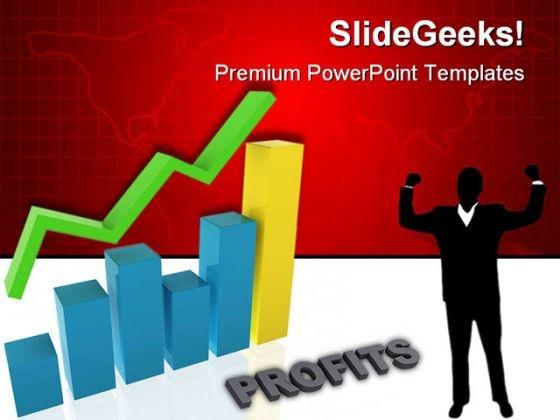 Graph Showing Profits Business PowerPoint Themes And PowerPoint Slides 0511