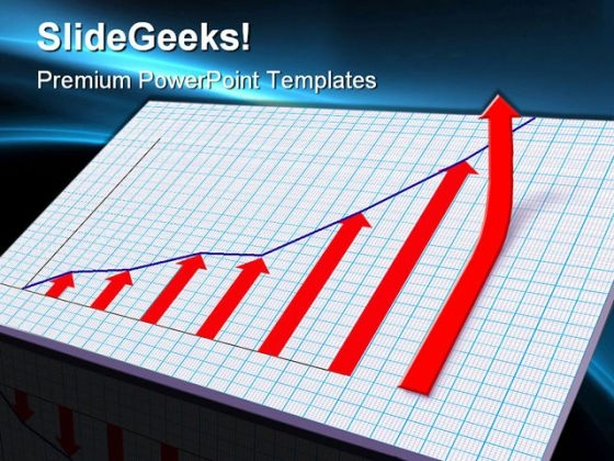 Graph Showing Success PowerPoint Templates And PowerPoint Backgrounds 0211