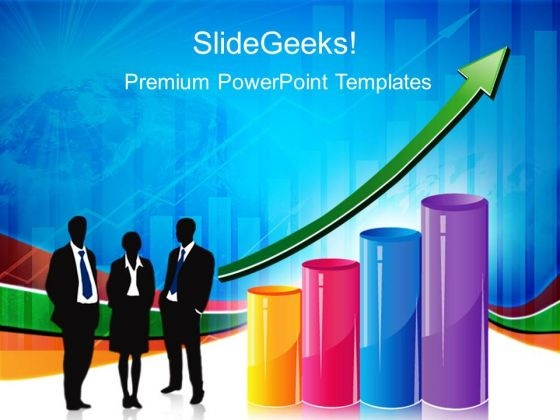 Graph With Arrow Business PowerPoint Templates And PowerPoint Themes 0212