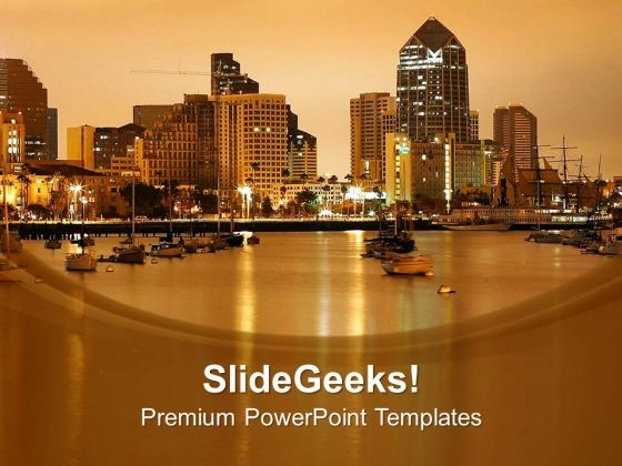Graphical Background With City Image PowerPoint Templates Ppt Backgrounds For Slides 0413