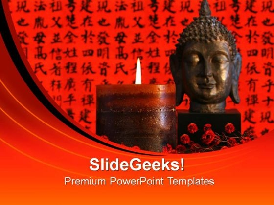 Great Buddha Worship Religion PowerPoint Templates And PowerPoint Themes 0812
