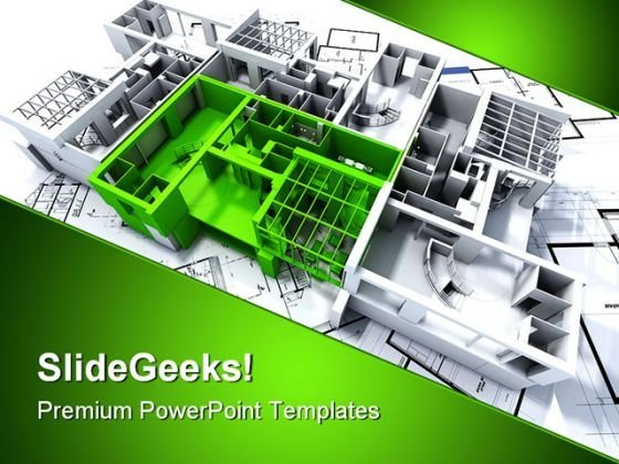 Green Apartment Architecture PowerPoint Templates And PowerPoint Backgrounds 0211