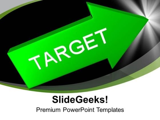 Green Arrow With Target Aim Goal PowerPoint Templates Ppt Backgrounds For Slides 0213