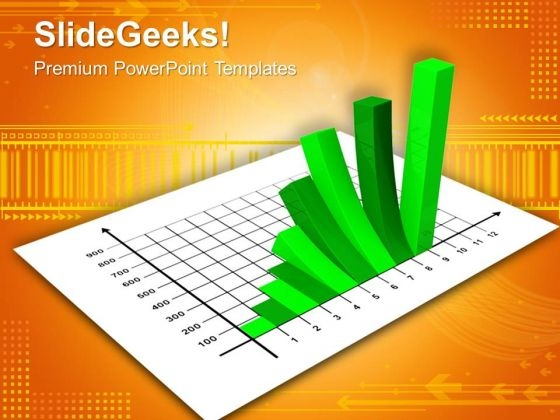 Green Bar Graph PowerPoint Templates And PowerPoint Themes 0912
