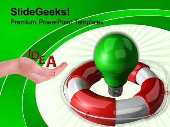 Green Bulb Idea Technology PowerPoint Templates And PowerPoint Themes 0812