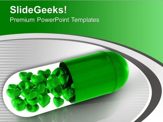 Green Capsule With Solutions PowerPoint Templates Ppt Backgrounds For Slides 0313