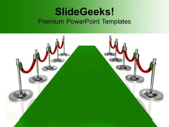 Green Carpet Path Illustration Success PowerPoint Templates Ppt Backgrounds For Slides 1112