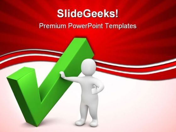 Green Check Business PowerPoint Templates And PowerPoint Backgrounds 0611