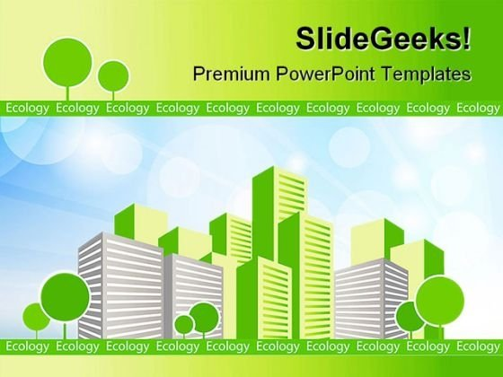 Green City Environment PowerPoint Themes And PowerPoint Slides 0511