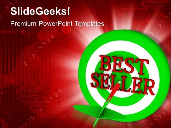 Green Dart Shows Best Seller Marketing PowerPoint Templates Ppt Backgrounds For Slides 0413