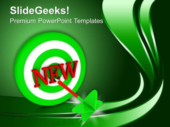 Green Dart With Concept Of New Product PowerPoint Templates Ppt Backgrounds For Slides 0413