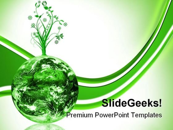 Green Earth Concept Environment PowerPoint Themes And PowerPoint Slides 0211