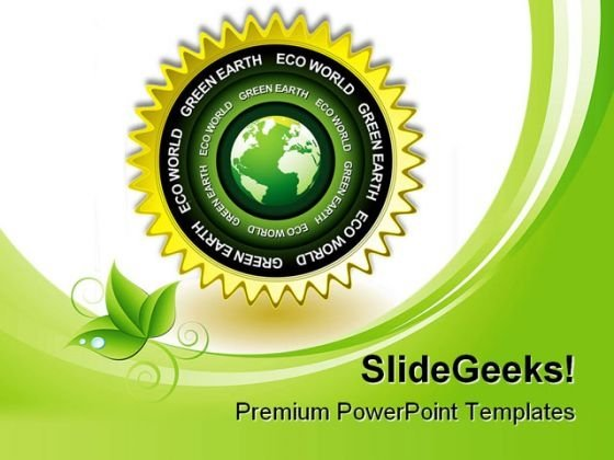 Green Earth Eco Icon Environment PowerPoint Templates And PowerPoint Backgrounds 0311