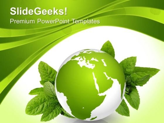 Green Earth Nature Geographical PowerPoint Templates And PowerPoint Themes 0712