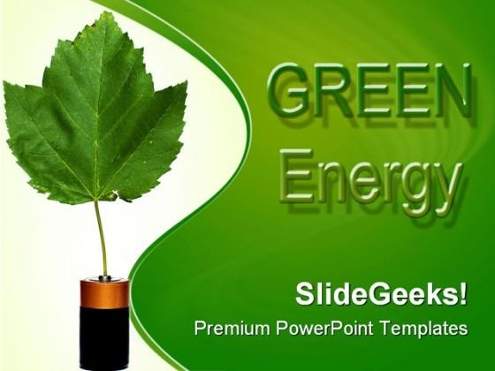 Green Energy Environment PowerPoint Templates And PowerPoint Backgrounds 0511