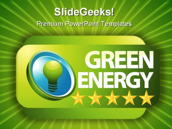 Green Energy Global PowerPoint Template 0810
