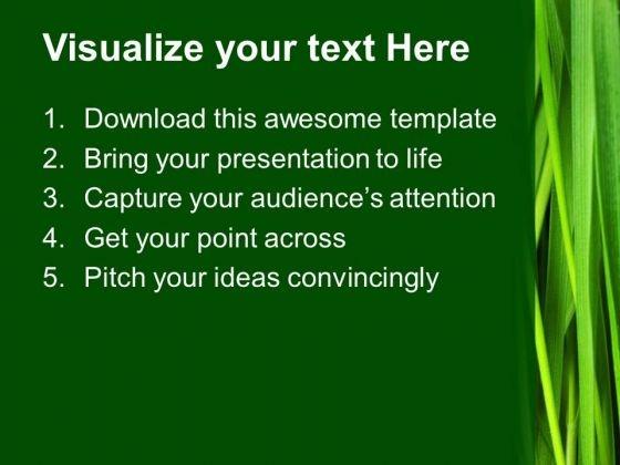 green grass environment powerpoint templates and powerpoint themes, Modern powerpoint