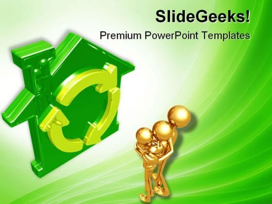 Green Home Real Estate PowerPoint Templates And PowerPoint Backgrounds 0711