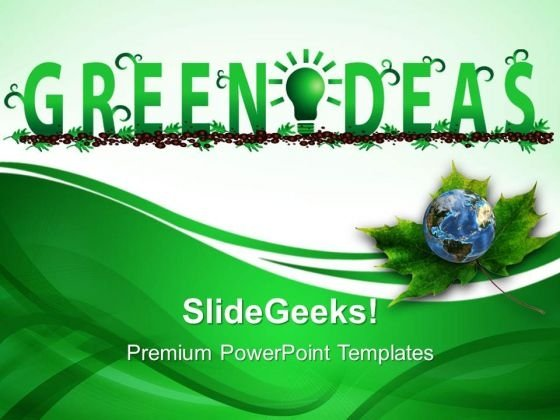 Green Ideas Environment PowerPoint Templates And PowerPoint Themes 0512