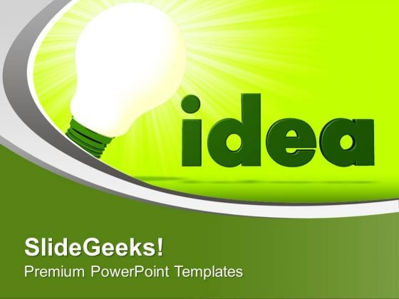 Green Innovative Idea PowerPoint Templates Ppt Backgrounds For Slides 0713
