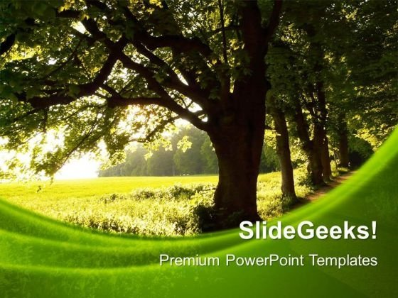 Green Nature Environment PowerPoint Templates And PowerPoint Themes 0512