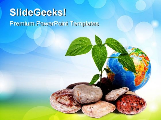 Green On Earth Environment PowerPoint Themes And PowerPoint Slides 0411