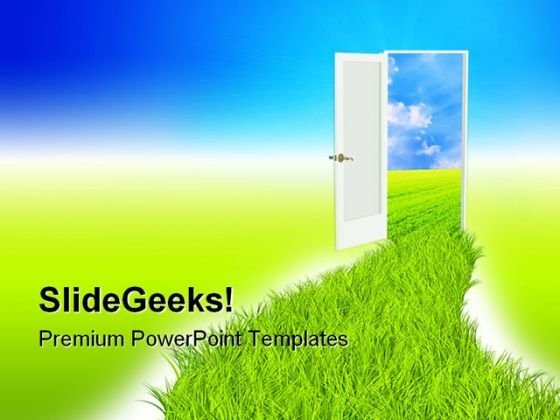 Green Road Nature PowerPoint Themes And PowerPoint Slides 0511