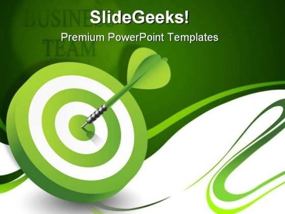 Green Target Success PowerPoint Templates And PowerPoint Backgrounds 1211