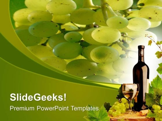 Green Vineyards Fresh Fruits PowerPoint Templates Ppt Backgrounds For Slides 0513