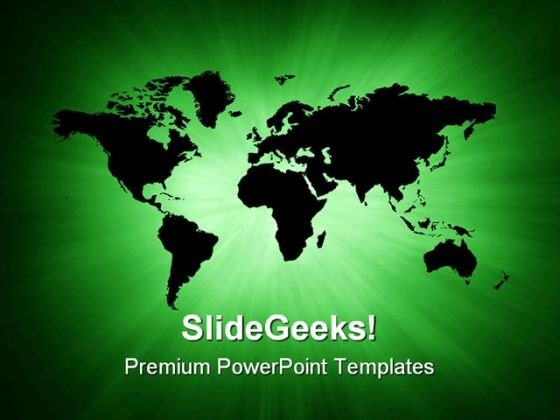 Green World Map Global PowerPoint Templates And PowerPoint Backgrounds 0211