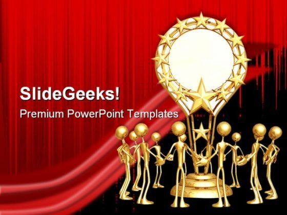 Award powerpoint templates slides and graphics group accolade teamwork powerpoint template 0910 toneelgroepblik Image collections