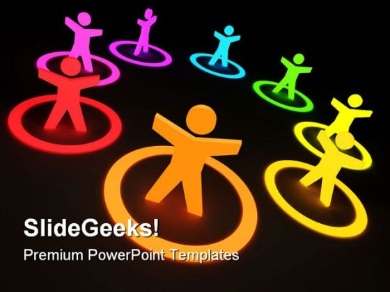 Group Of Colourful People Communication PowerPoint Backgrounds And Templates 1210
