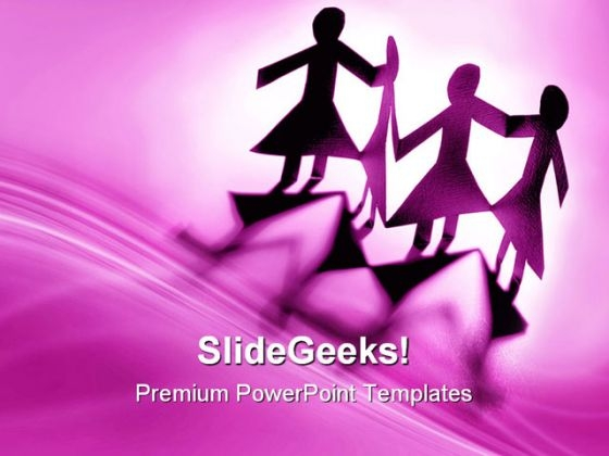Group Of Females Communication PowerPoint Themes And PowerPoint Slides 0411