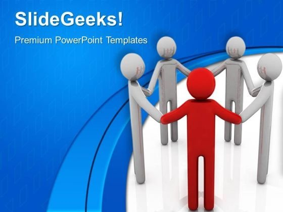 Group Of People Leadership PowerPoint Templates And PowerPoint Themes 0612